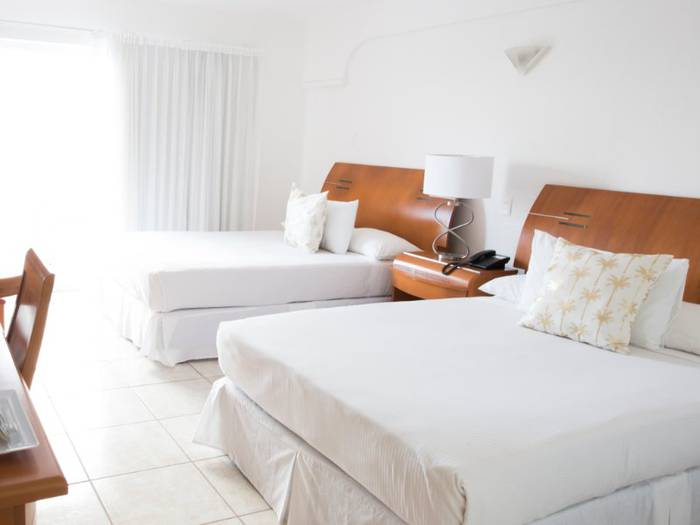 Deluxe oceanfront double coral princess golf & dive resort hotel cozumel